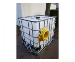 Ibc Wassertanks 1000 L 100% Lebensmittelecht mit Deckel und Auslaufhahn