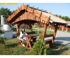 Rustikal Weingartenmöbel mit Pavilion