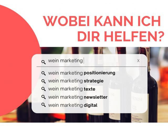 Biete Marketing-Hilfe für dein Weingut!